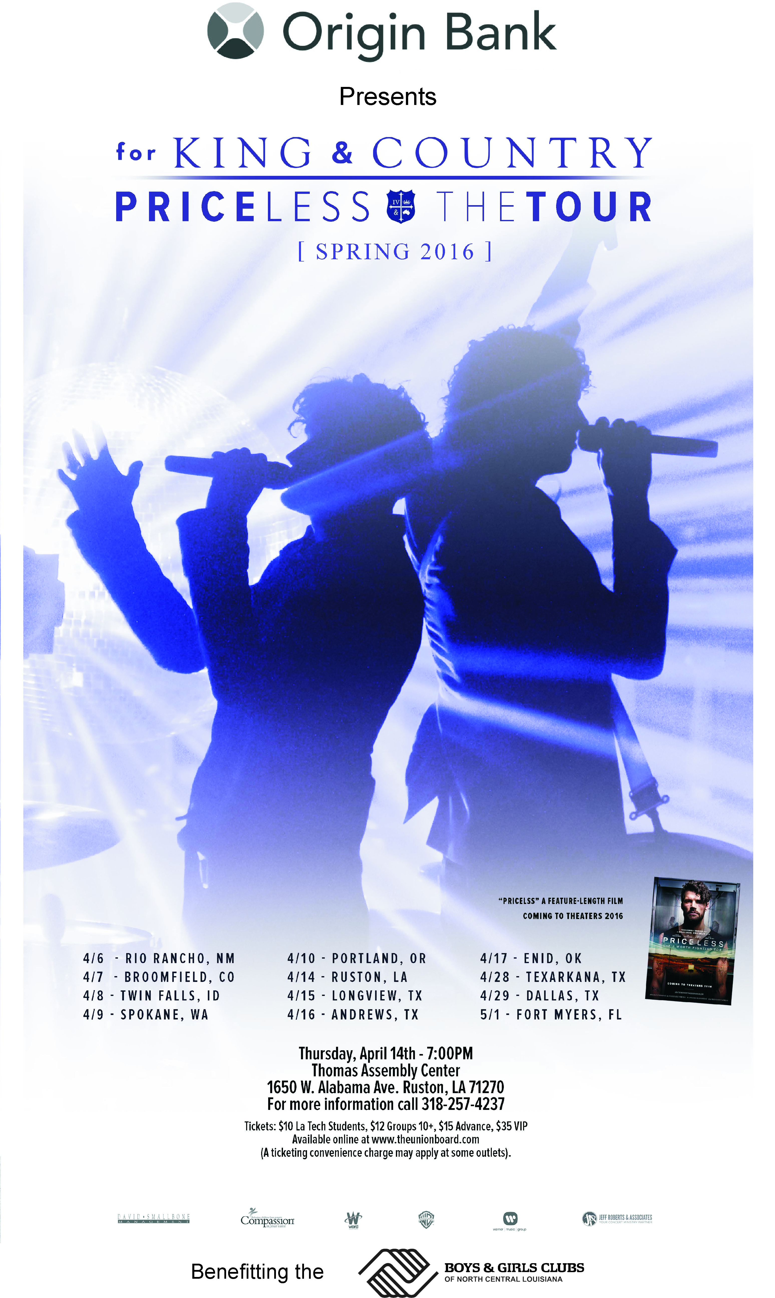 Priceless the Tour feat. for King & Country